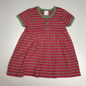 Hanna Andersson pink and green striped dress